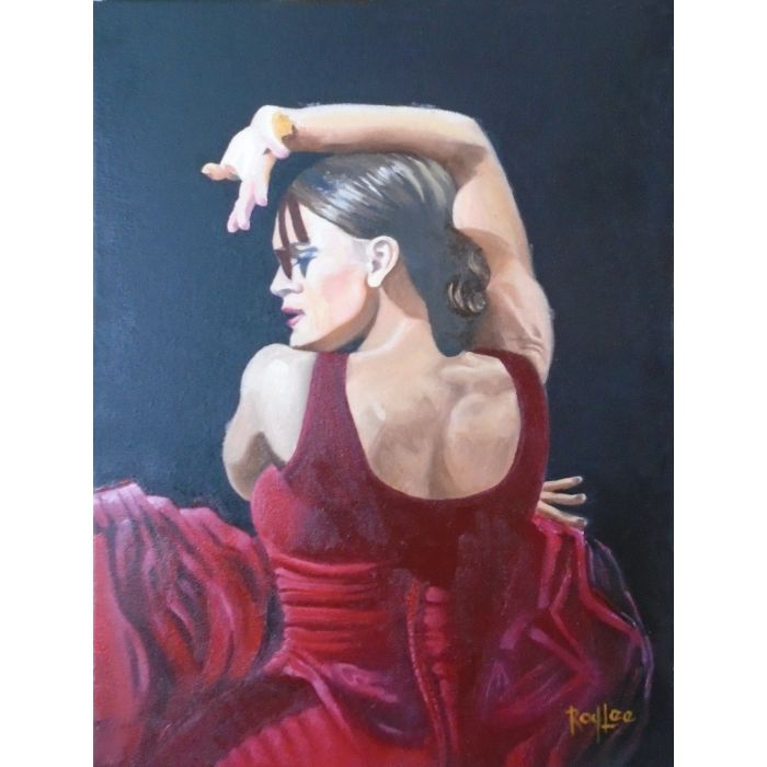 Flaminco Dancer In red Dress