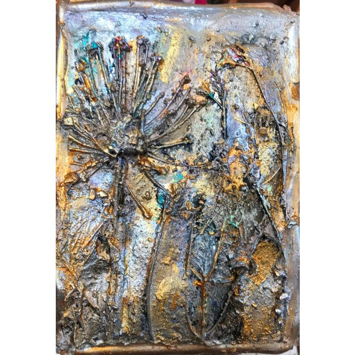 Fossilized In Gold  V Sculpture