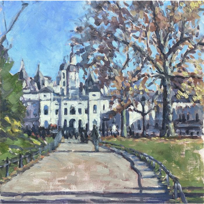 Horse Guards Parade from St James Park, London