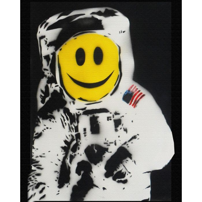 The Happynaut (On Chunky Canvas) Plus FREE signed Ditty!