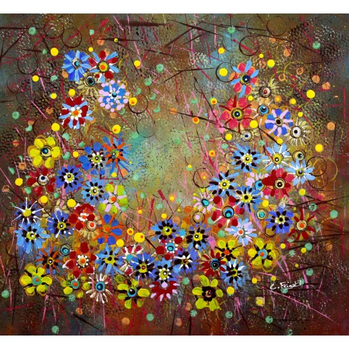 Indian Summers #3 - Original floral painting