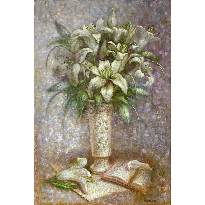 """""""Lilies and open book"""""""