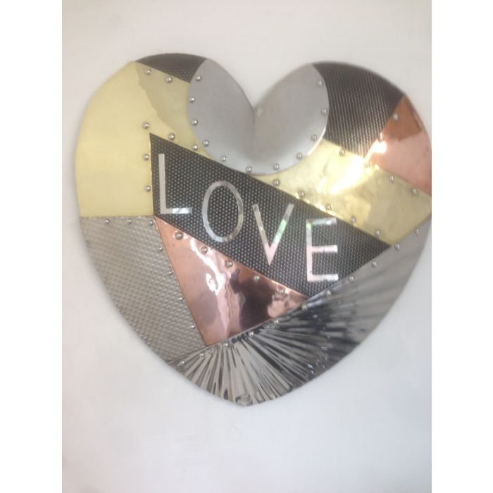 Patched Up Heart Wall Sculpture
