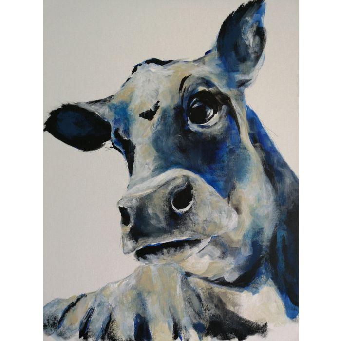 Cow art, cow acrylic painting