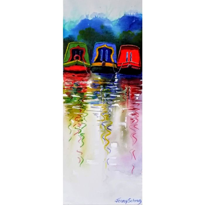 Canal boats and reflections (1)