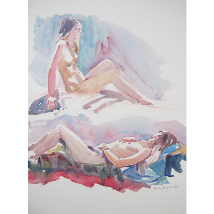 reclining female nudes
