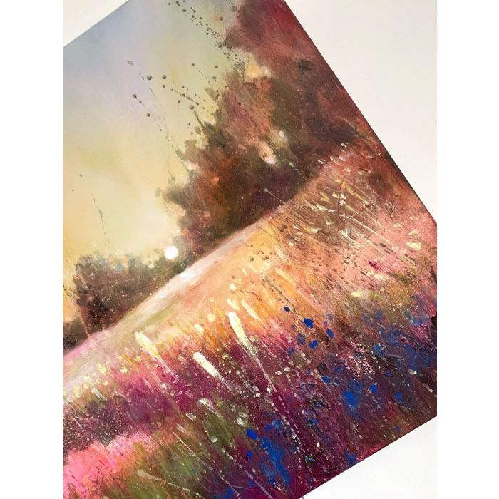 Oil on paper. Cow.