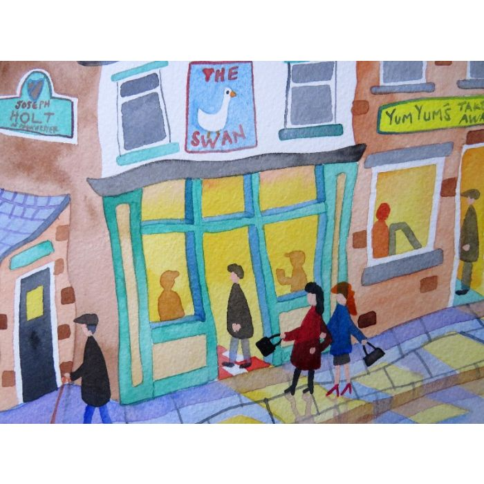 Cow. Oil on paper