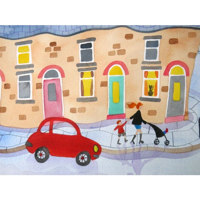 Owls. Sketch. Oil on paper