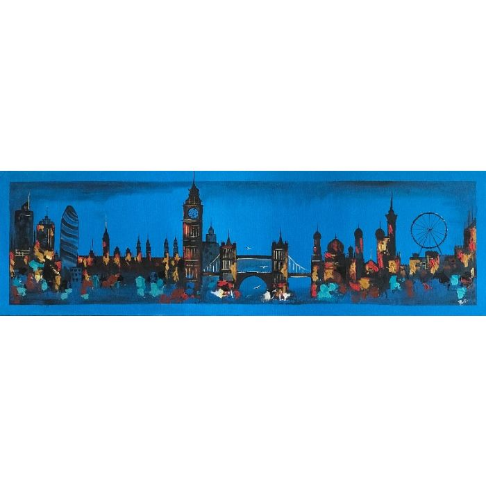 London Skyline Abstract Painting