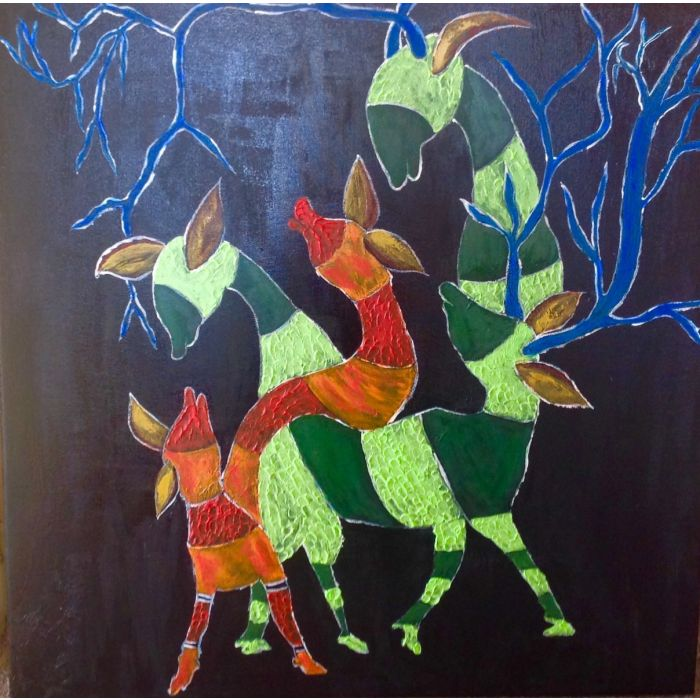 Christmas Reindeers -large box canvas ( Sale it was £600)