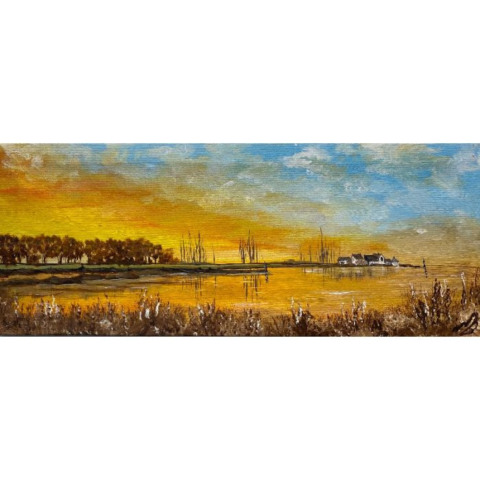 Muddeford Quay on a Panoramic Canva
