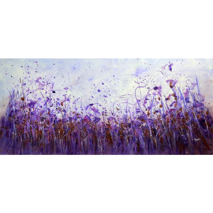 Feel It #2 - Large original floral landscape