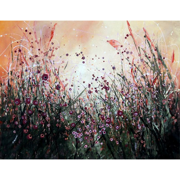 Entangled - Large original floral painting