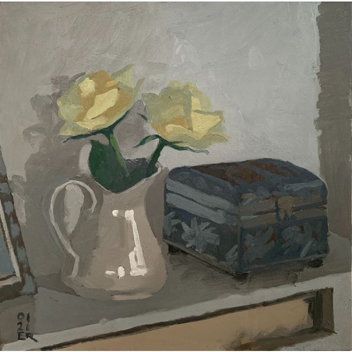 Roses and White Jug
