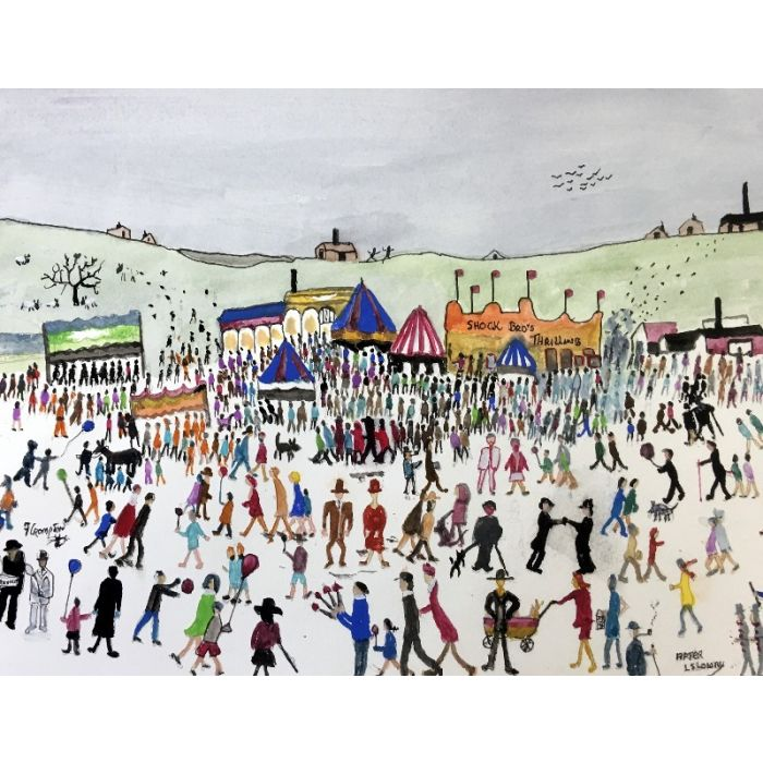 Penny People atthe fair ( Framed) After LS Lowry