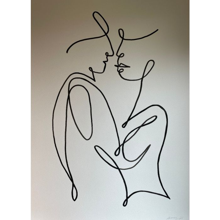 Lovers Line Drawing