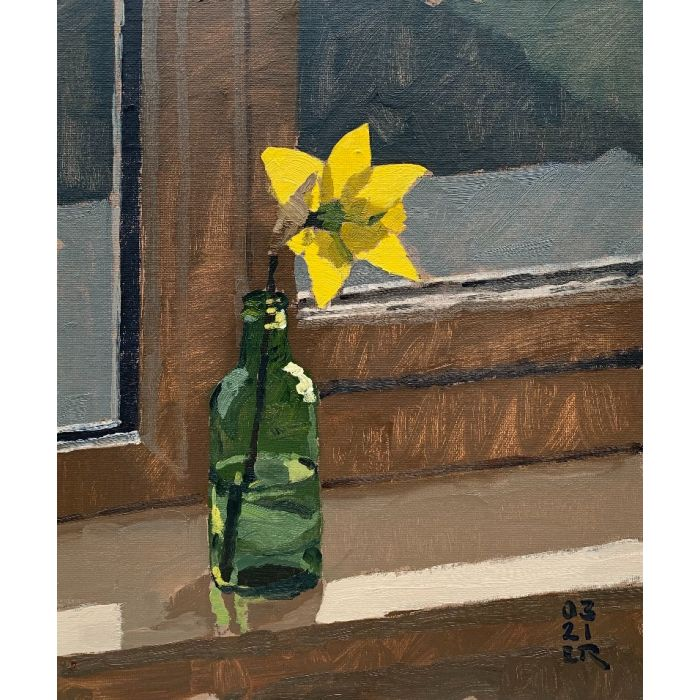 Daffodil and Bottle