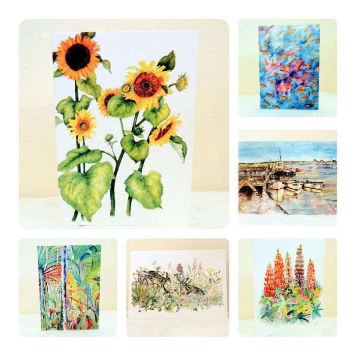 Six Mixed Scene Greeting Cards/ Notelets