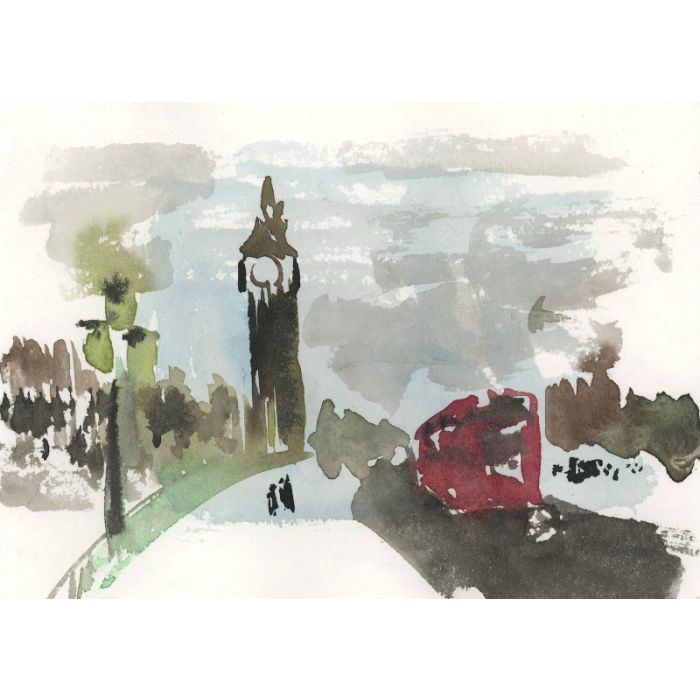 London (print from a watercolor painting)