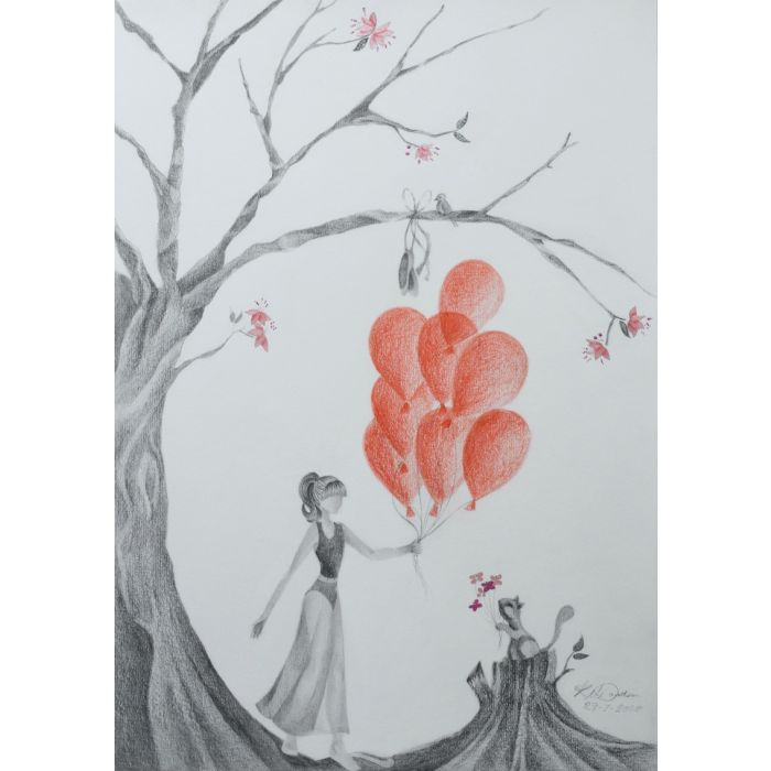 Trickster Balloons and Ballet Shoes – Unframed