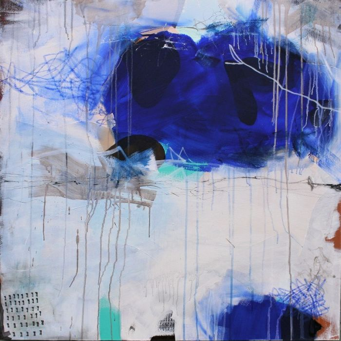XXXL Abstract High Tide 100 x 100 cm Abstract Painting