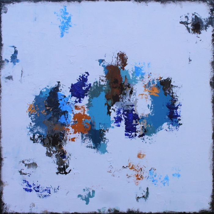 Abstract Freedom 60 X 60cm Textured Abstract Painting
