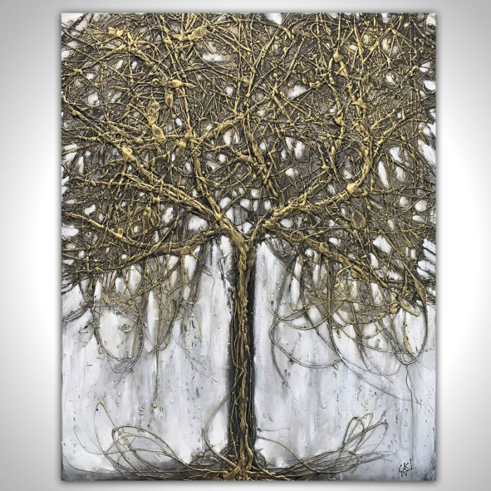 Large Metallic Black Tree 80cm x 100cm
