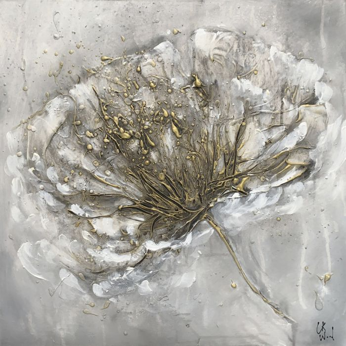 Metallic Flower 61 x 61cm
