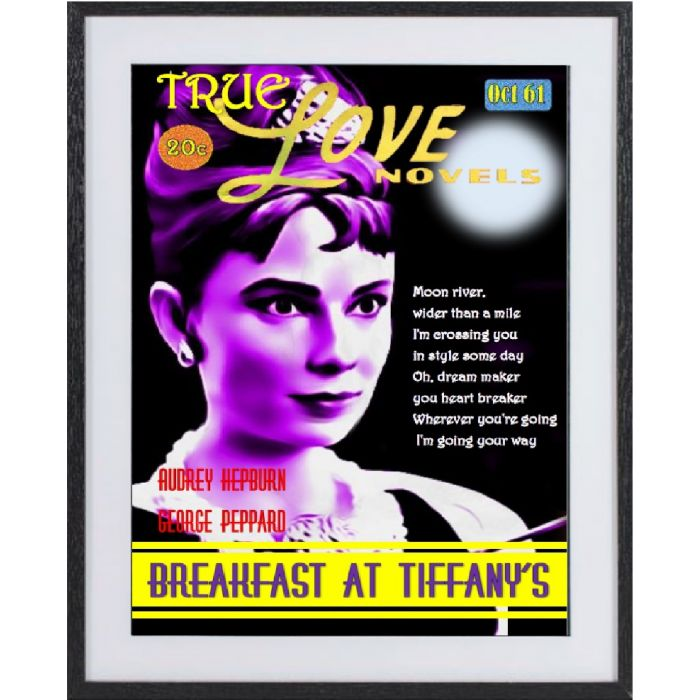 Breakfast at Tiffany's large framed limited edition print