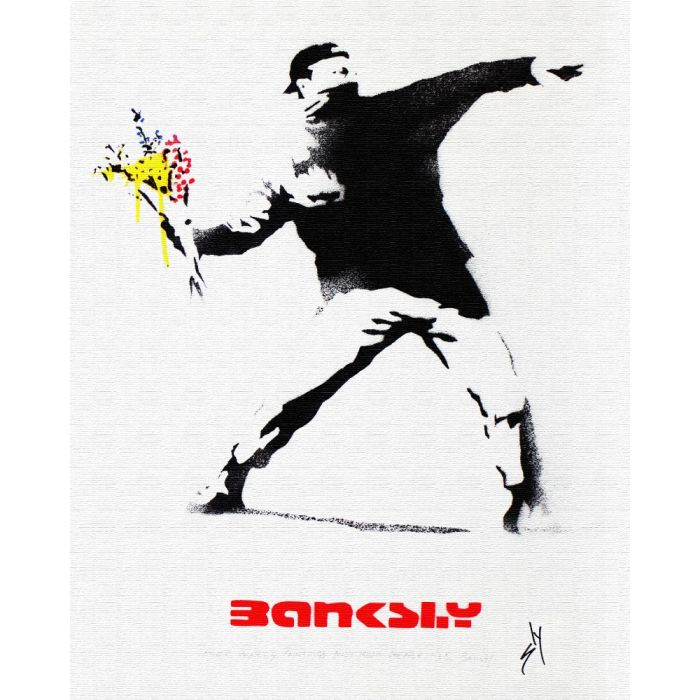 Other people's paintings only much cheaper: No. 5 Banksy (on canvas).