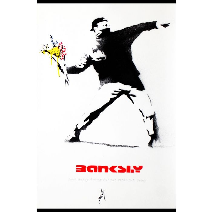 Other people's paintings only much cheaper: No. 5 Banksy (on plain paper).