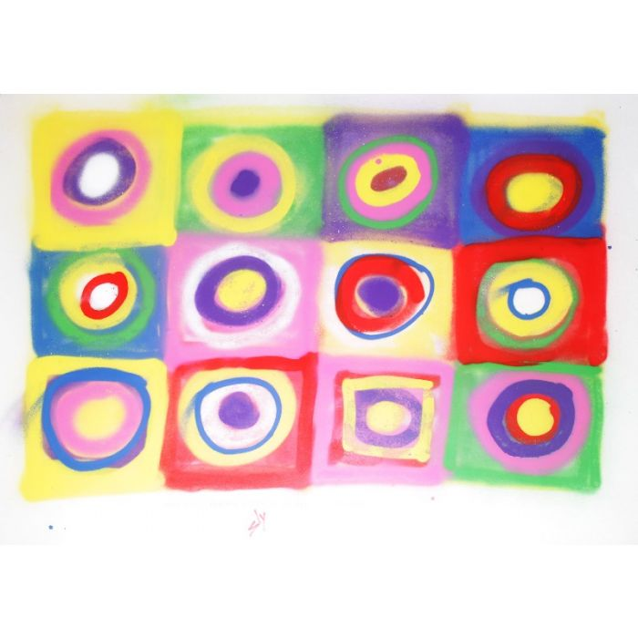 Other people's paintings only much cheaper: No.8 Kandinsky (On plain paper).