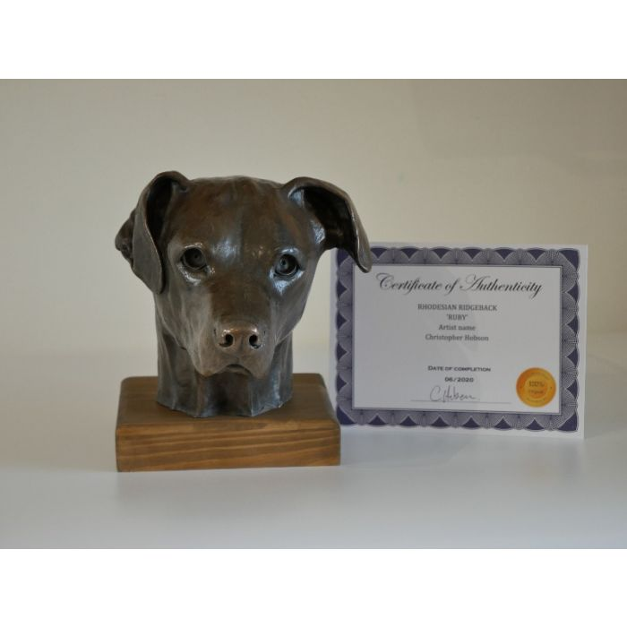 Rhodesian Ridgeback Dog Sculpture ornament