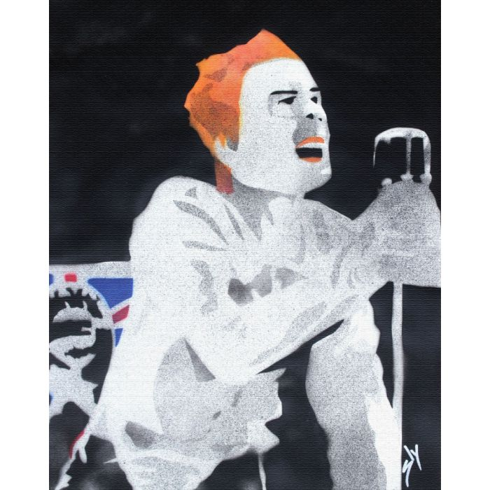 """Popiconic moments 4: """"God save the Queen.""""  (On chunky canvas)"""