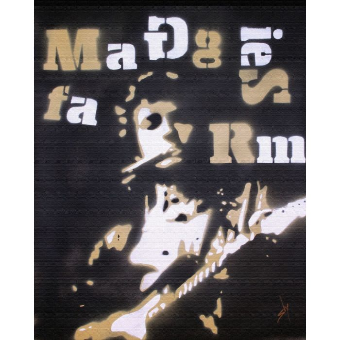 Popiconic moment 5: The electric Dylan controversy, Maggie's Farm. (On canvas).