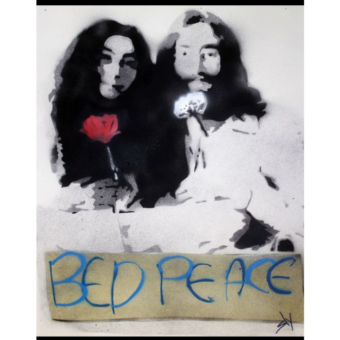 Popiconic moment 6: Bed Peace.  (On The Daily Telegraph).