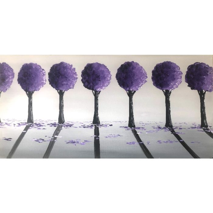 Purple Round Trees 2