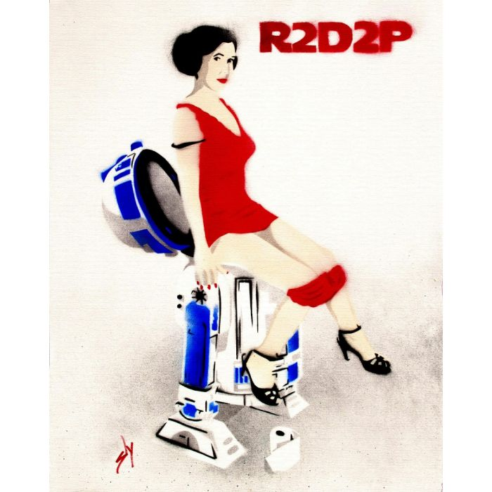 R2D2P (on canvas).