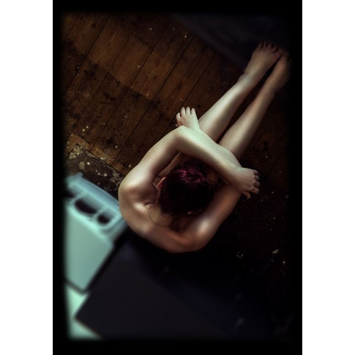 REACH ME #1 Width: 254mm Height: 304.8mm   Reach Me is a brand new series of 3 exclusive limited edition fine art nude prints.   Fine Art Paper with Acrylic Glazing. Mounted in pure white & framed in black.
