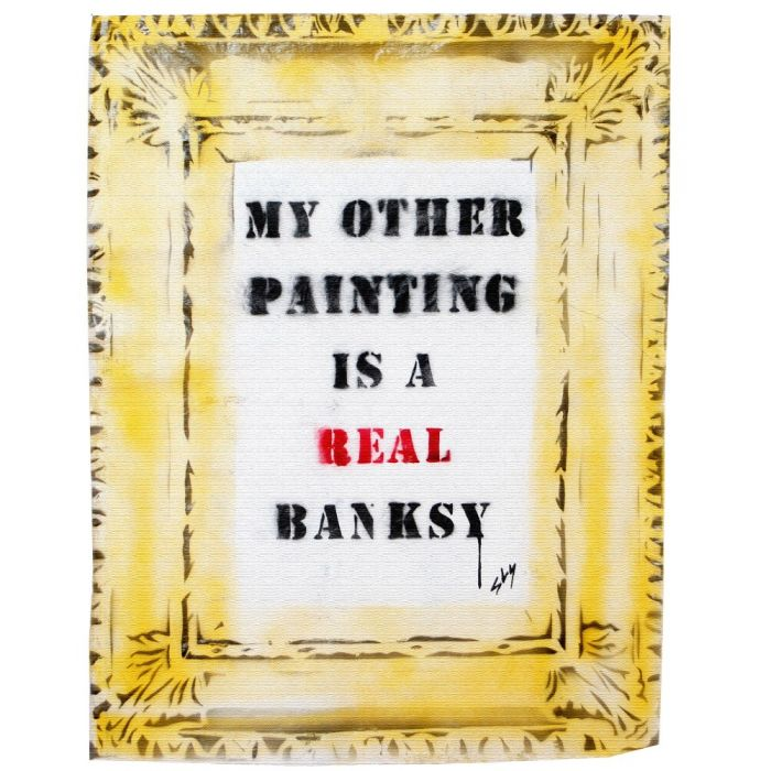 A real Banksy (on chunky canvas).