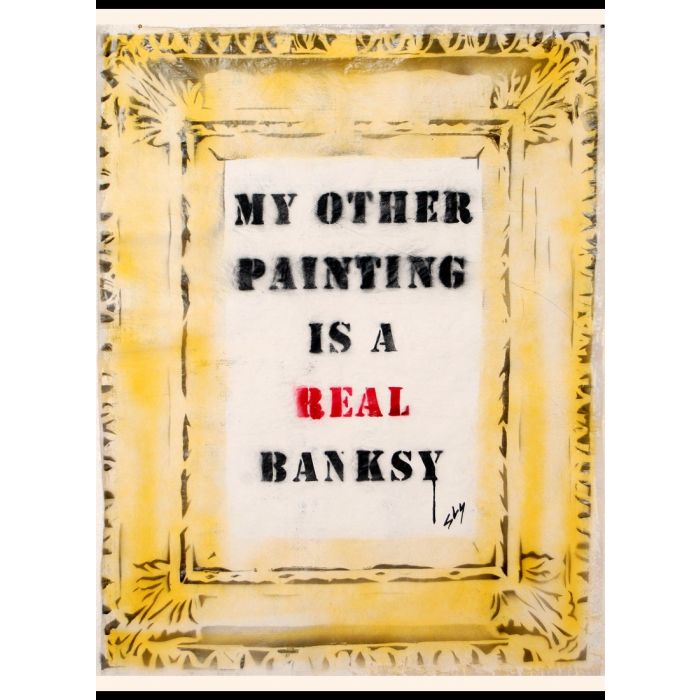 A real Banksy (on plain paper).