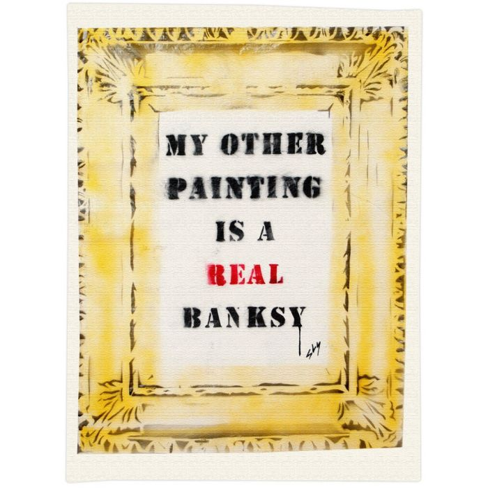 A real Banksy (on gorgeous watercolour paper).
