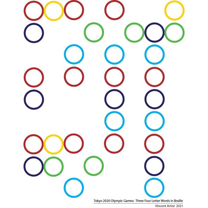 Tokyo 2020 Olympics: Four Letter Words in Braille