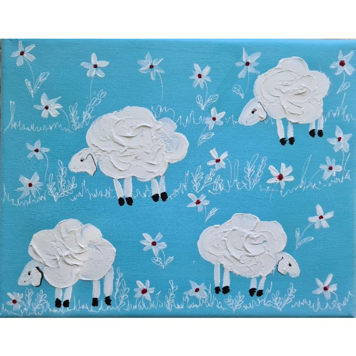 Sheeps&Blooms in Blue