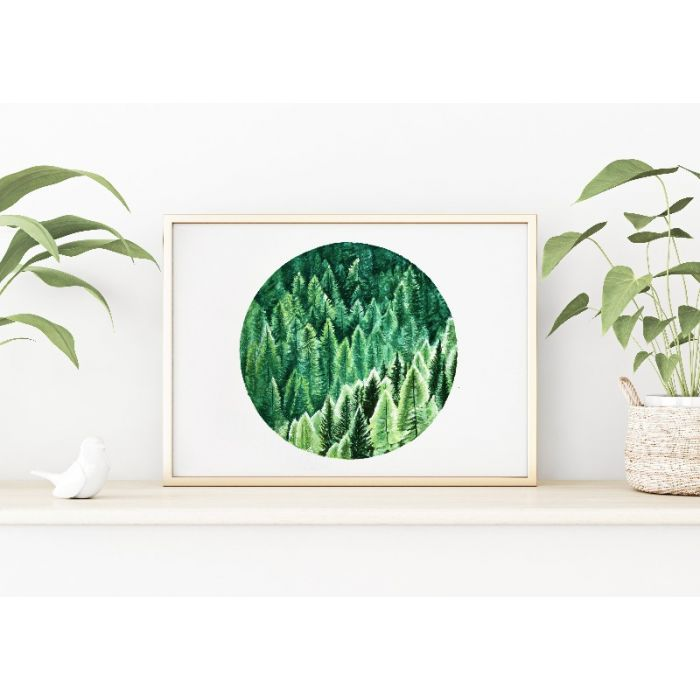 Green Forest Original Watercolour Painting