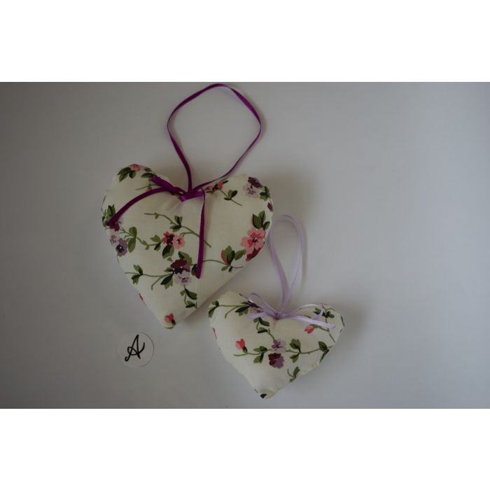 Hand sewn Hearts made from vintage Laura Ashley fabric 'Priory'