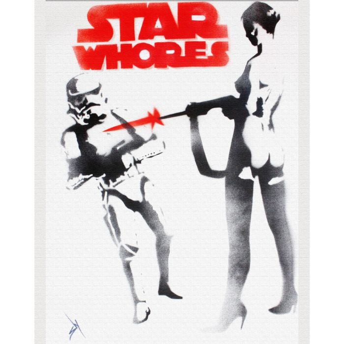Star whores (on canvas).