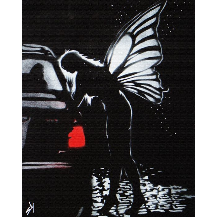 Street fairy 1 with FREE poem (on canvas).