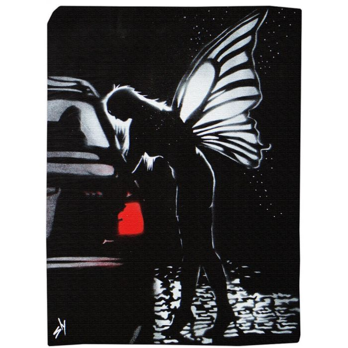 Street fairy 1 with FREE poem (on gorgeous watercolour paper).